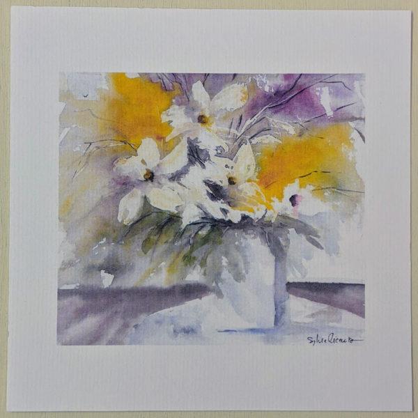 Carte bouquet fleuri
