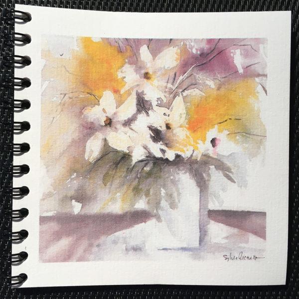 Carnet les fleurs colorées