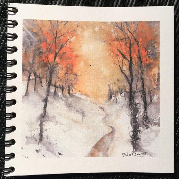 Petit carnet le chemin hivernal