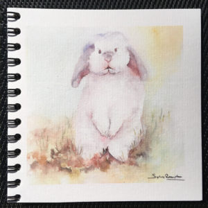 carnet lapin blanc