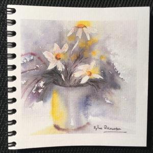 Carnet bouquet fleuri