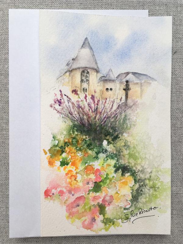 fleurs et batiments et son enveloppe